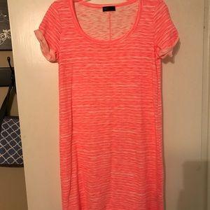 Gap hot pink T-shirt dress size Small